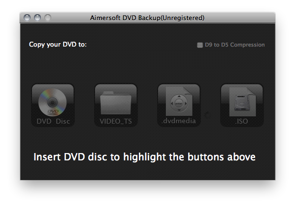 Aimersoft DVD Backup(Unregistered)